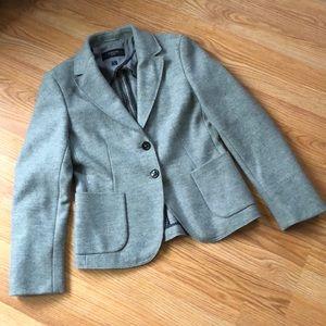 MaxMara Weekend Grey Felted Wool Blazer Sz 6
